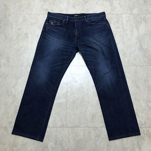 BAPE 深藍刷色牛仔褲(中直筒)