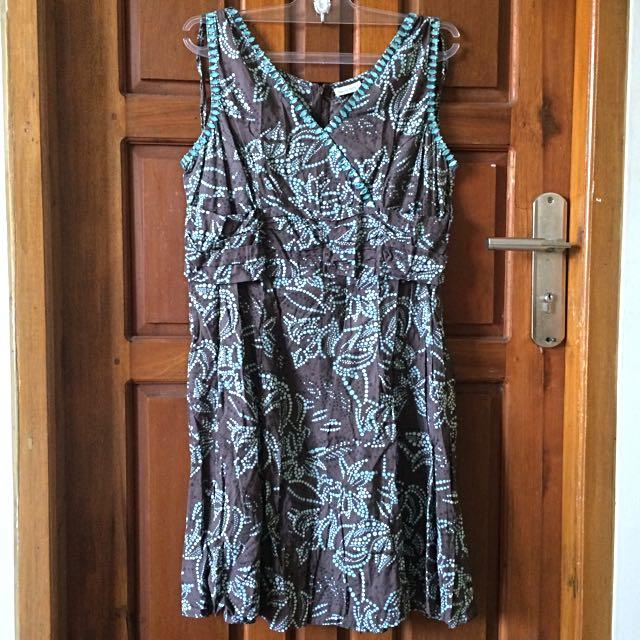 Beaded Pattern Mini Dress