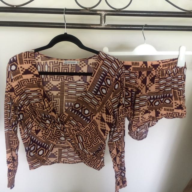 Beginning Boutique Co-ord Top & Shorts Set