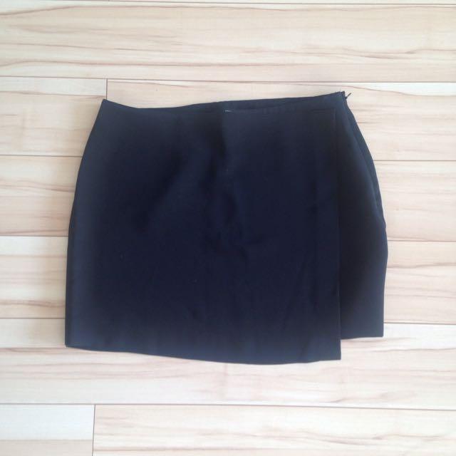 Black Forever 21 Wrap Skirt Size S