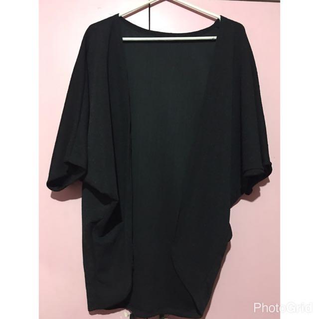Black Kimono Top Freesize