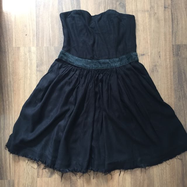 Black Ksubi Strapless Dress