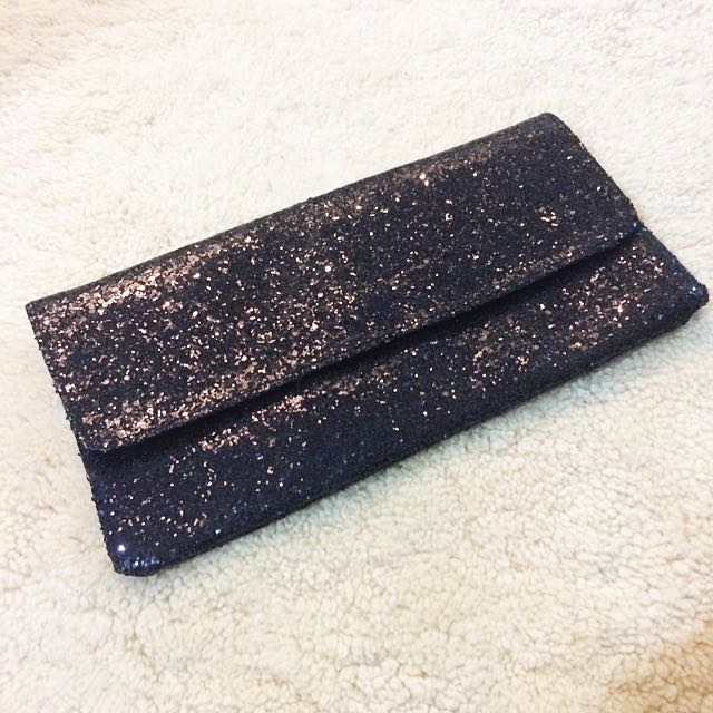 Black Sparkly Clutch