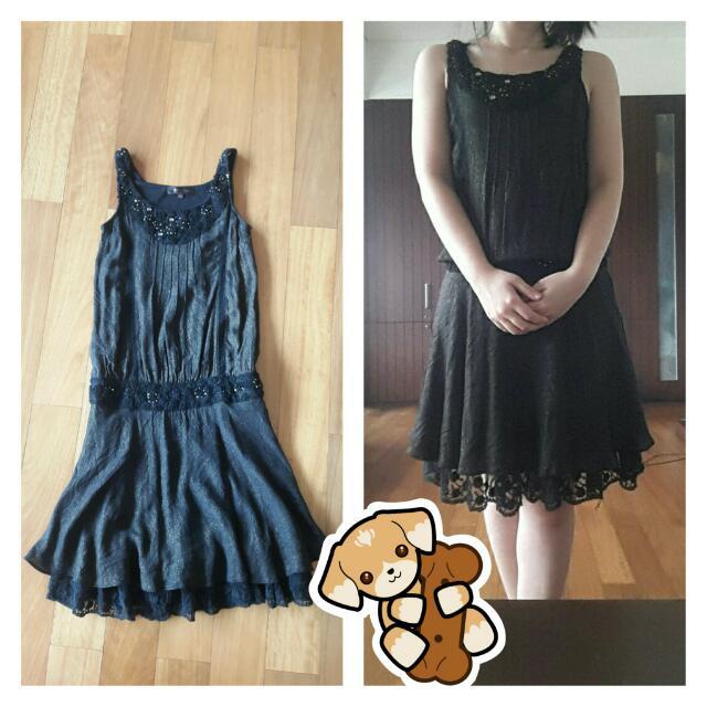 Black With Golden Sparkle Dress