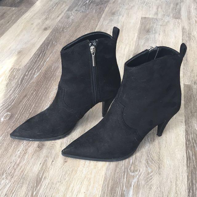 Black Zara Booties