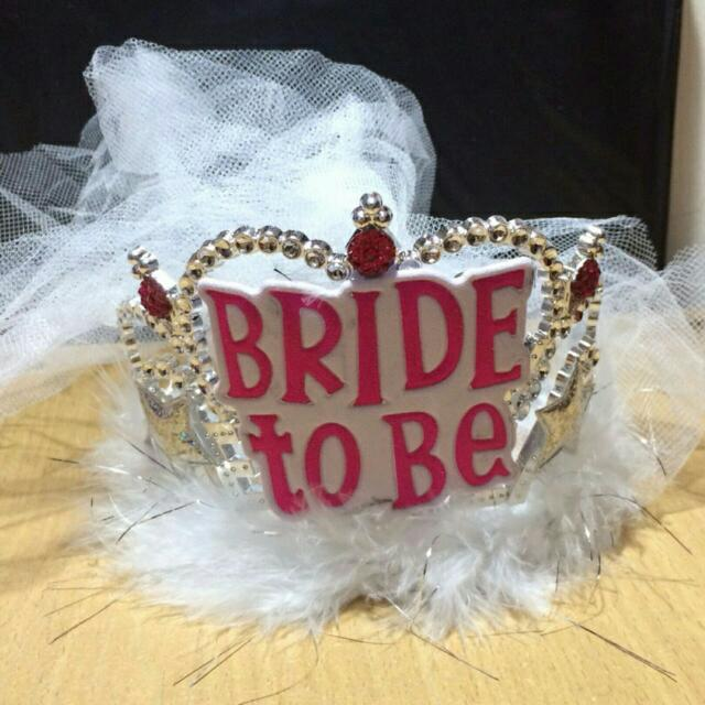 Bridal Shower Crown with veil