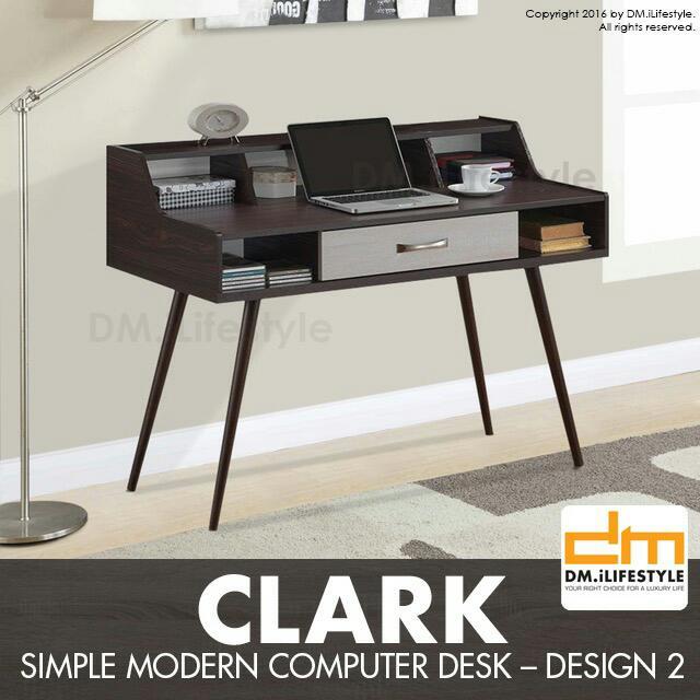 Clark Simple Modern Computer Desk Design 2 Home Furniture