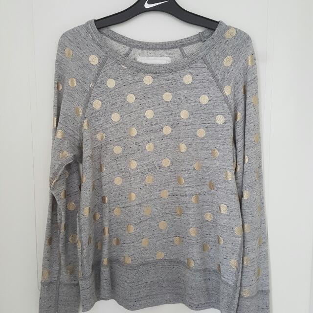 Country Road Crew Neck W/ Gold Dots