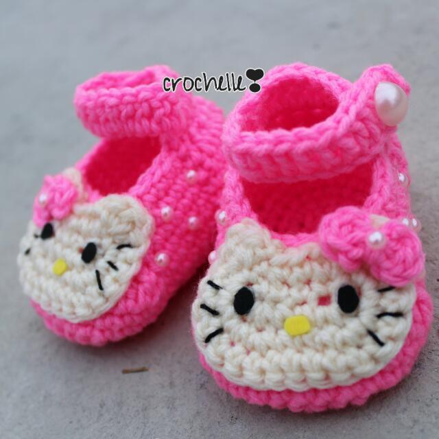 Crochet Hello Kitty With Headband ❣