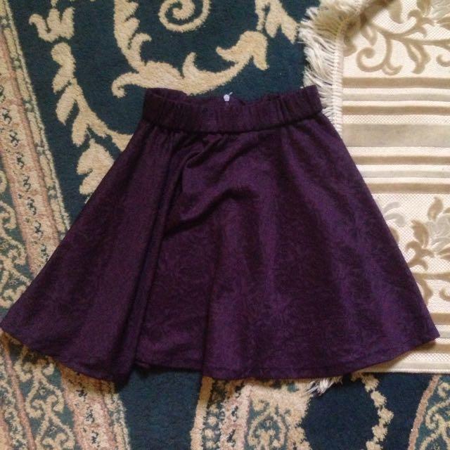 Dark Purple Short Skirt