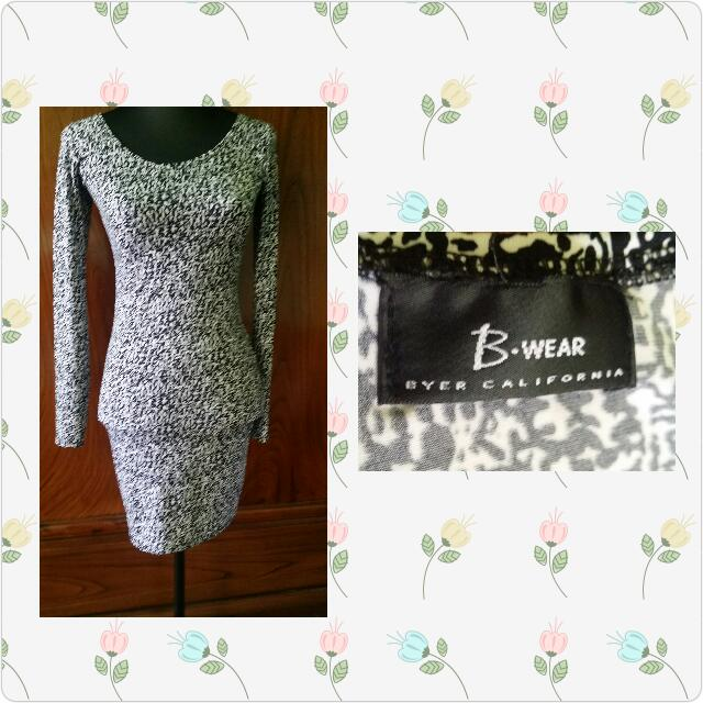 Fitted dress longsleeve