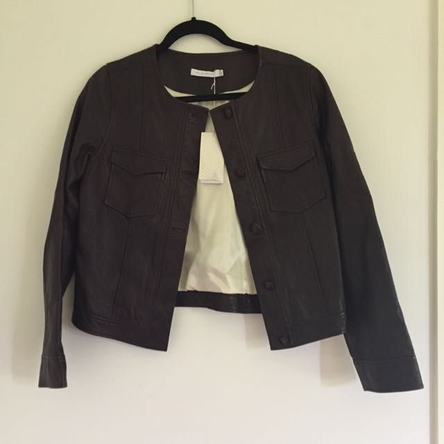 Flannel Leather Jacket BNWT Size 3
