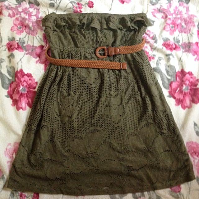 Forever 21 Olive Beach Dress