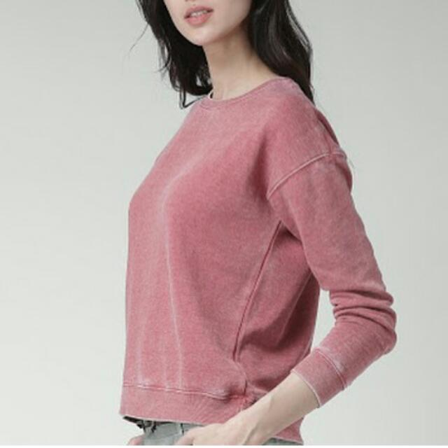 FOREVER 21 SEAMED FLECEE KNIT SWEATER