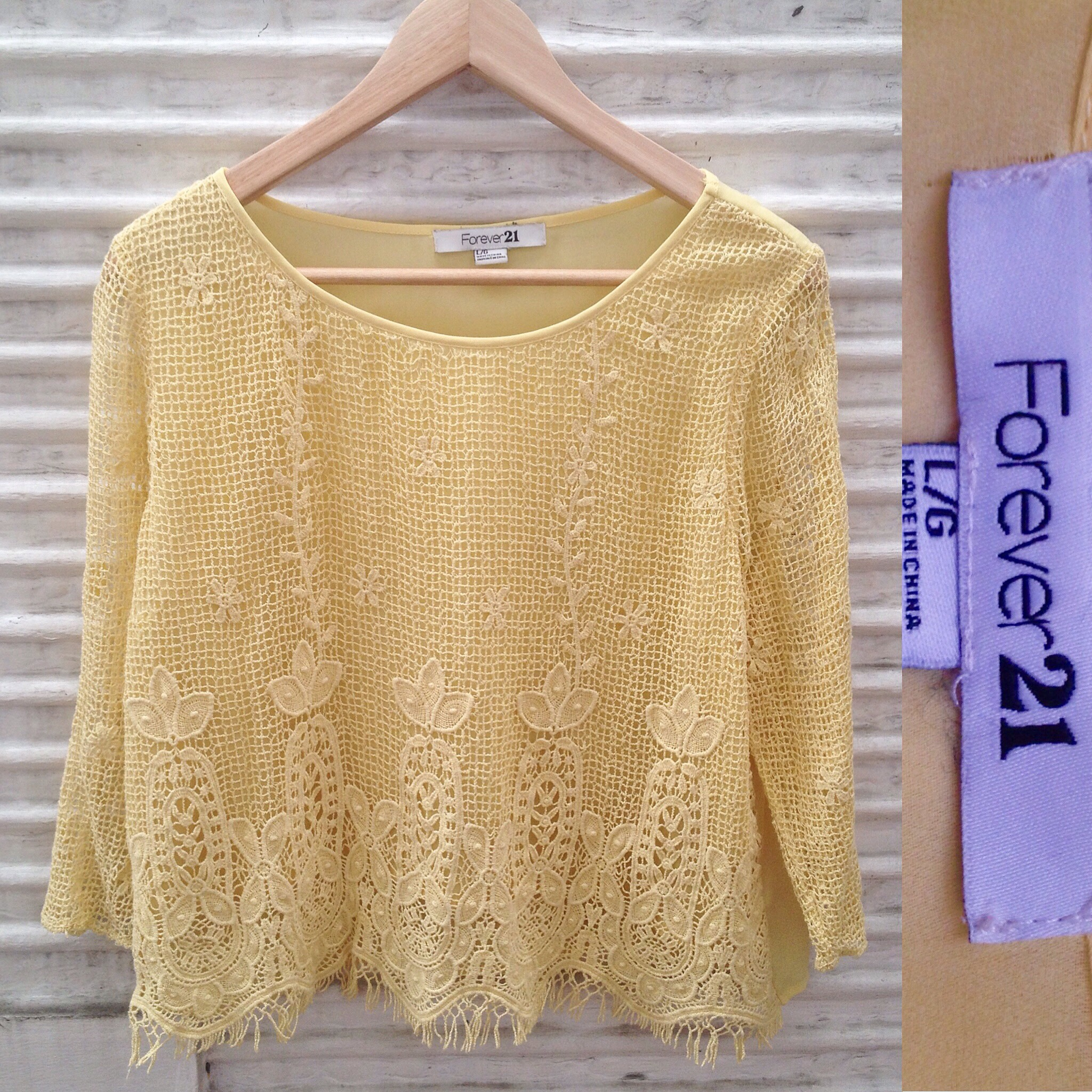 Forever 21 Yellow Delicate Blouse