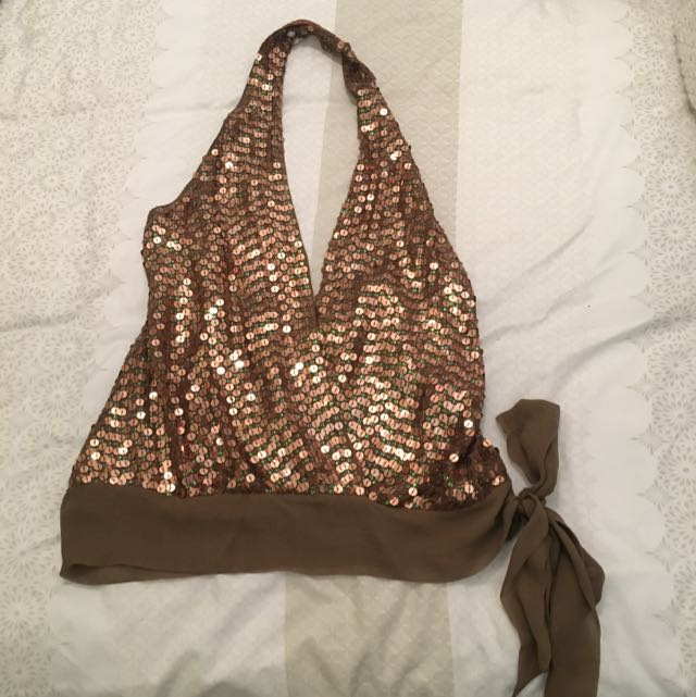 George Gross Sequin Top Size 8