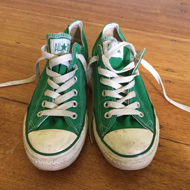 Green Low Converse Size 6
