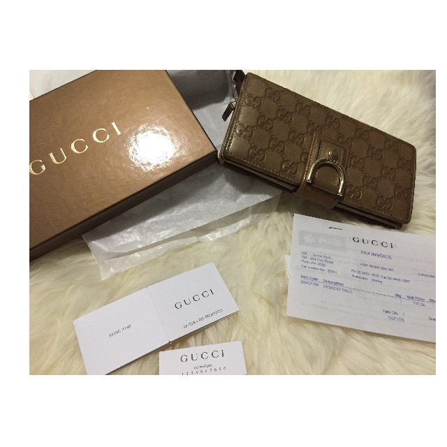 GUCCI LEATHER WALLET - GOLD