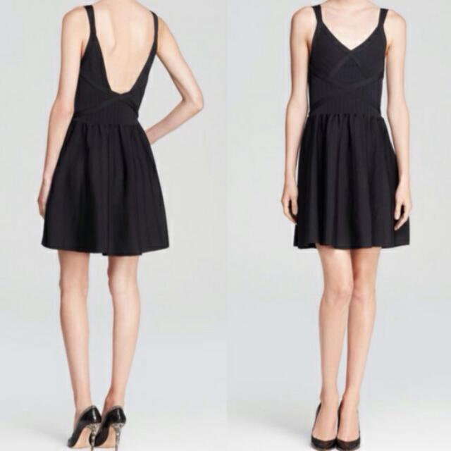 GUESS DOUBLE-STRAP FIT & FLARE BANDAGE DRESS