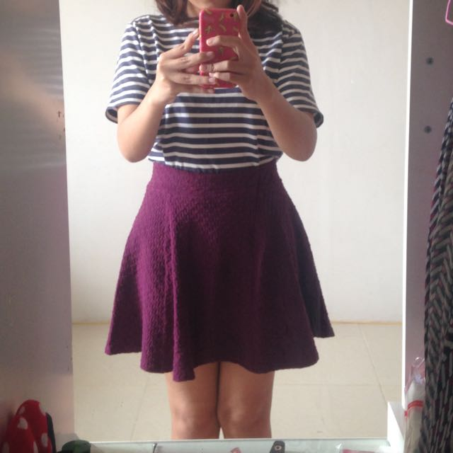 H&M Skirt Purple