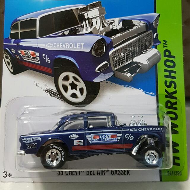 Hot Wheels 55 Chevy Bel Air Gasser Toys Games Bricks