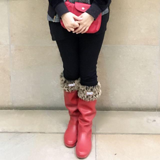 Hunter 紅色長靴(可摺疊收藏)