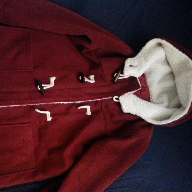 Korean Cute Hooded Coat/Jacket With Fleece