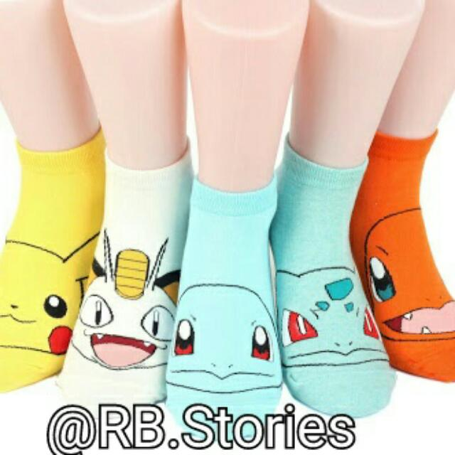 "Korean Socks ""Pokemon"" Series"