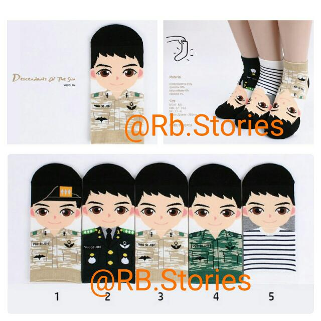 Korean Socks Yoo Si Jin Series