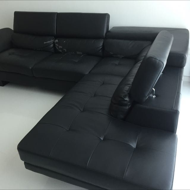 Leather Sectional Sofa Couch 10