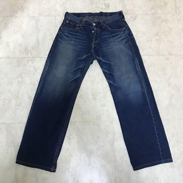 Levi's 902 深藍刷色牛仔褲(中直筒)