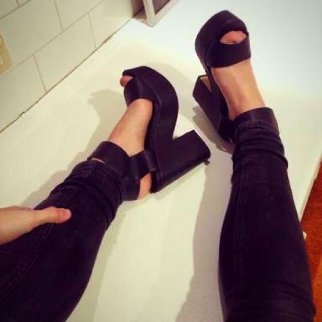 Lipstik Jase Heels In Black Size 5/36