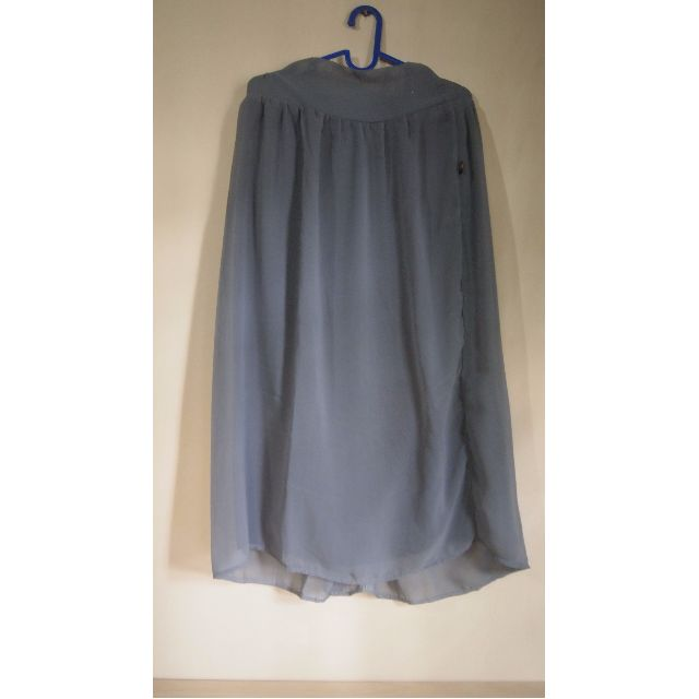 Long Skirt - Grey, Chiffon