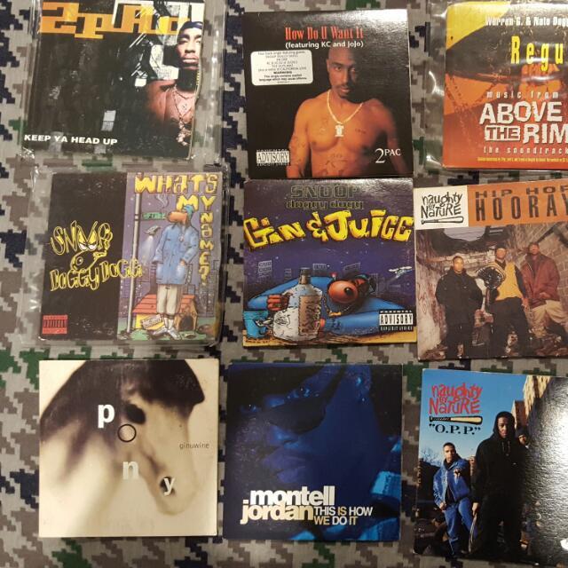 Lot Of CD Singles. Rnb, Rap, Pop, 2pac, Snoop
