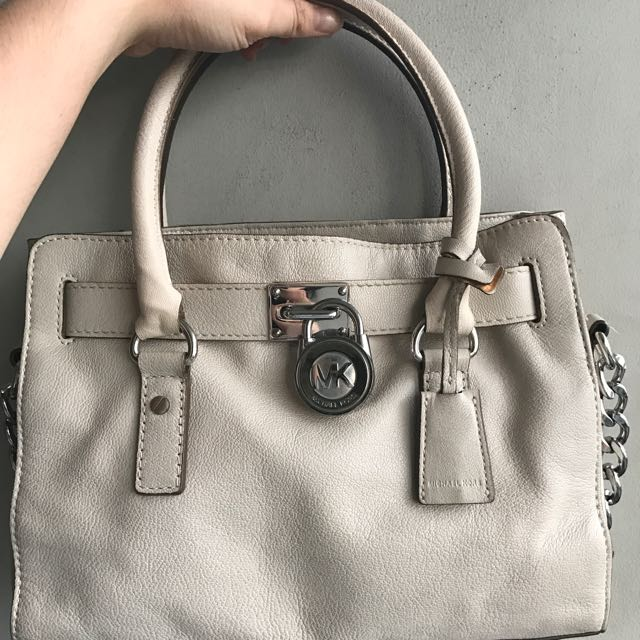 Michael Kors Hamilton White With Silver Buckle