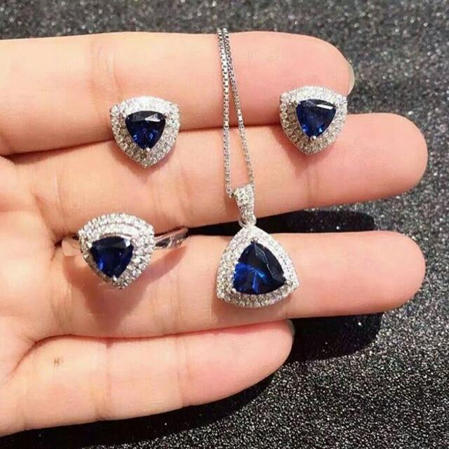 Micro Diamond Set (Kalung, Cincin, Anting)