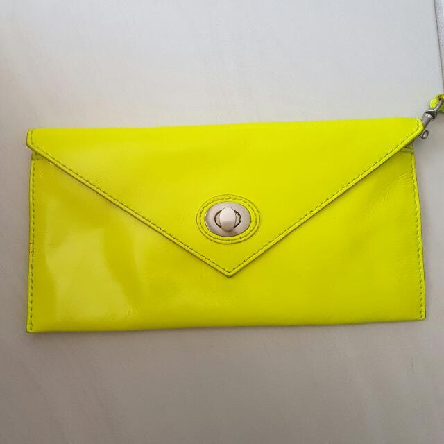 Mimco Bright Yellow Wristlet