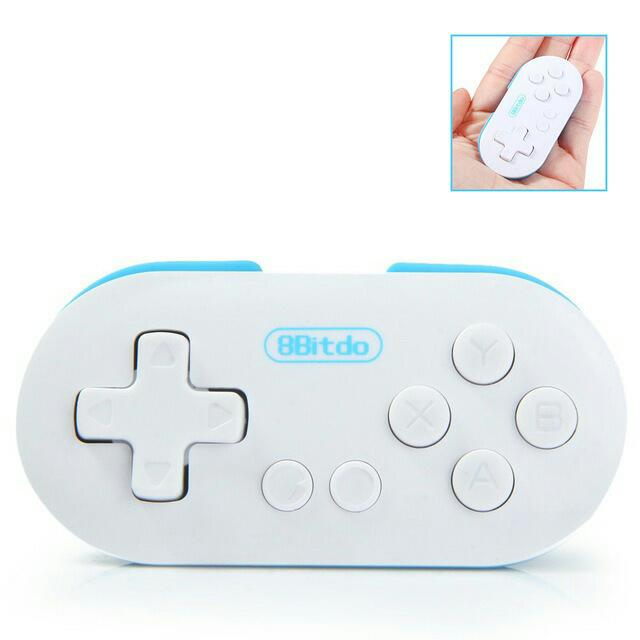 Mini 8Bitdo ZERO Wireless Bluetooth Joystick Gamepad Game Controller Remote  Control Selfie Shutter for Android IOS Window Mac OS