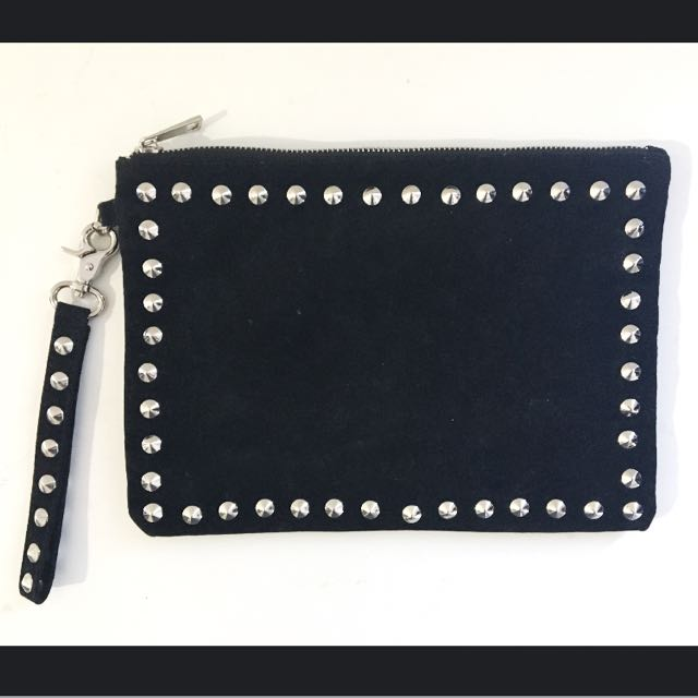 Minkpink Studded Clutch Bag