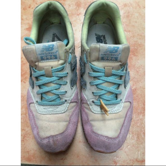 New balance 粉藍配色運動鞋 23.5  #轉轉來交換