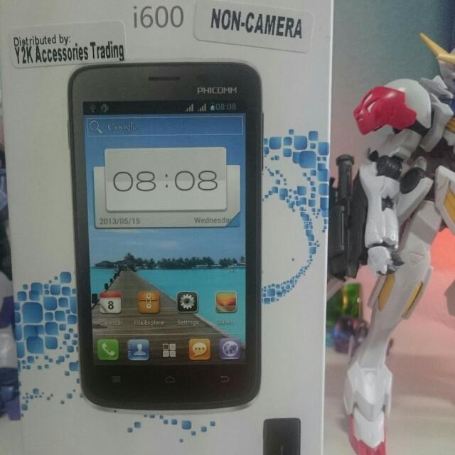 Phicomm i600 non-camera smartphone