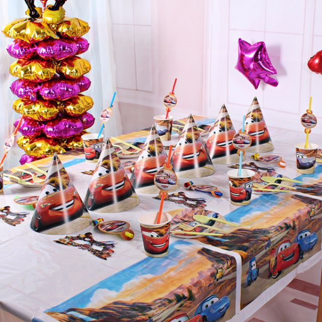 Pixar Cars Disney Birthday Party Supplies Pack Kit Of Six Childrens