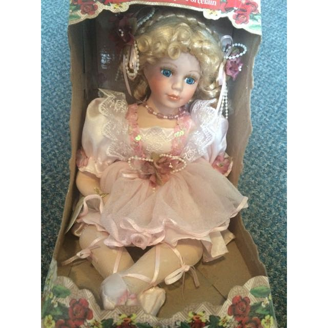 SALE Porcelain Ballerina Doll