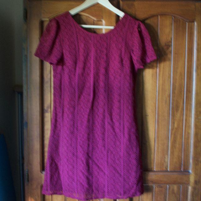 Princess Highway maroon dress