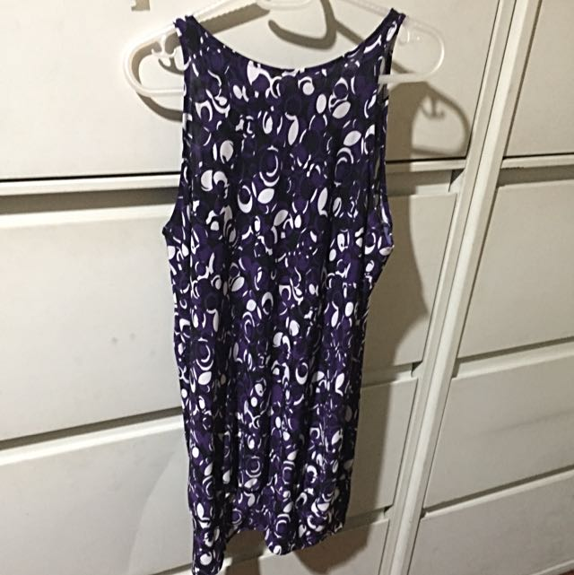 Purple Long Halter Top