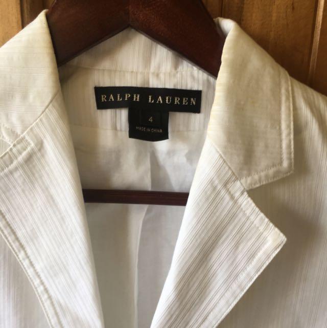 Ralph Lauren Women's White Jacket Sz4 (Aust 8)
