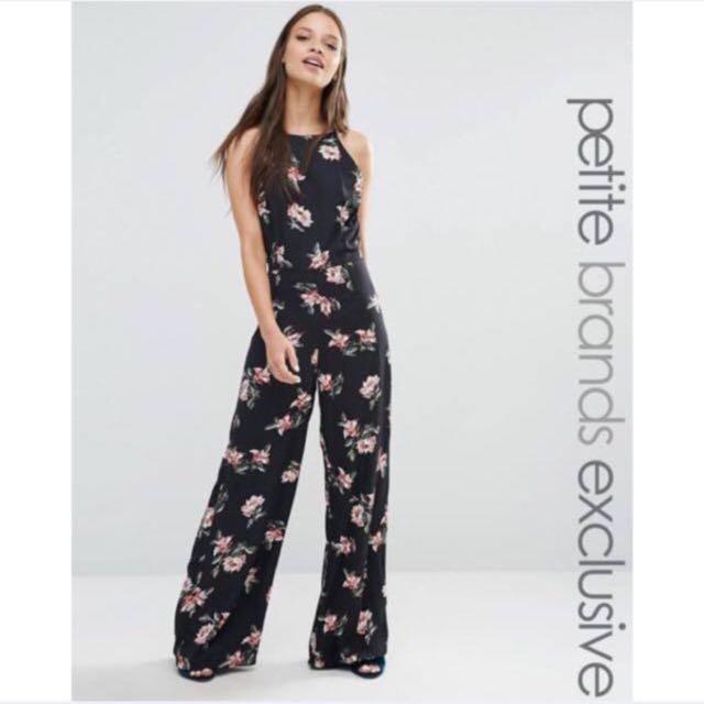f8b38445ef REDUCED!! Asos Reece Petite Floral Jumpsuit