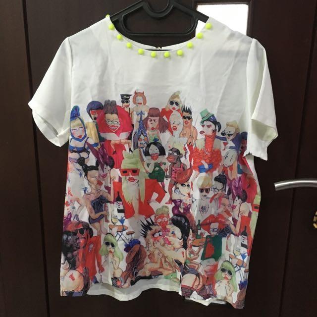 t-shirt motif orang