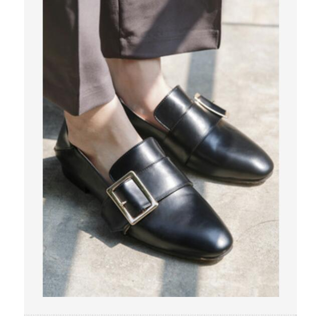 轉賣soulsis 金方扣環2way紳士鞋 黑36