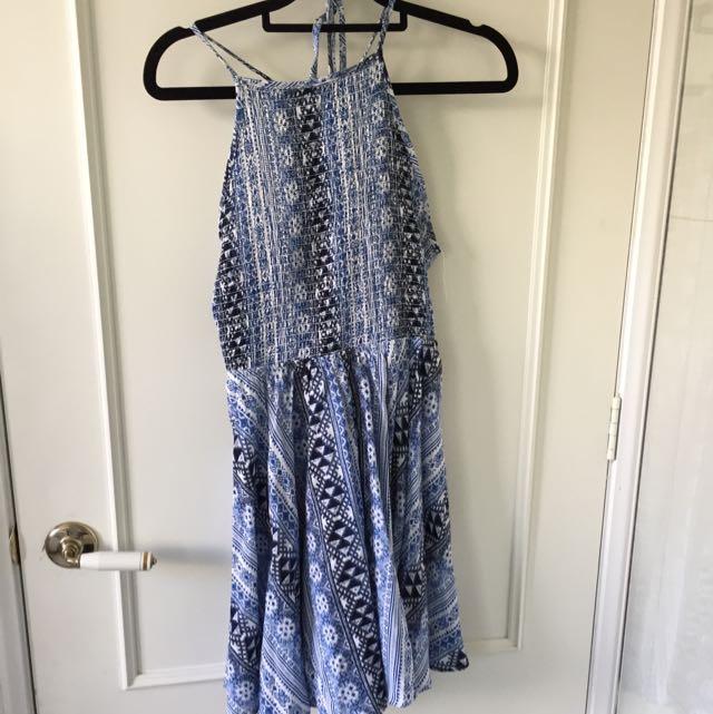 Summer Dress, Blue Print Size 10